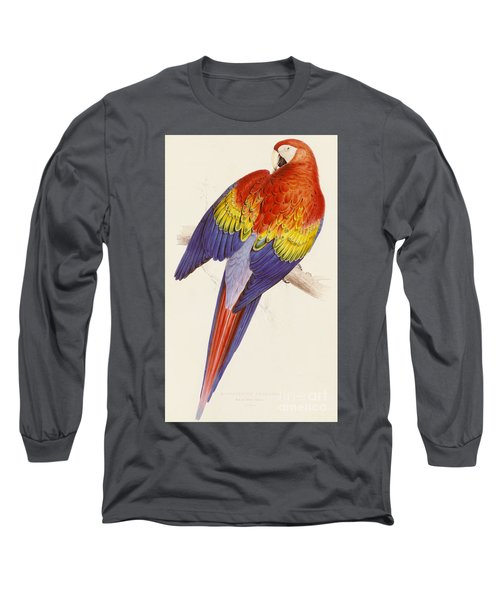 Red And Yellow Macaw Long Sleeve T-Shirt