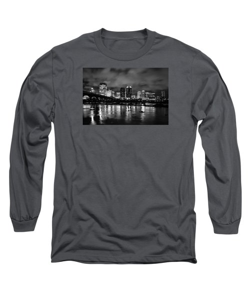 Richmond Skyline At Night Long Sleeve T-Shirt
