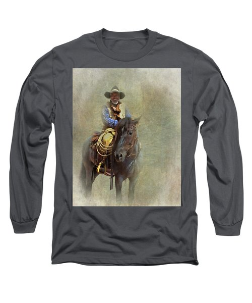 Long Sleeve T-Shirt featuring the photograph Ride Em Cowboy by David and Carol Kelly