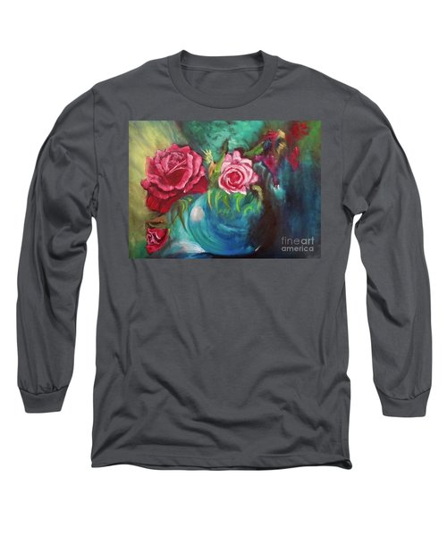 Roses One Of A Kind Handmade Long Sleeve T-Shirt