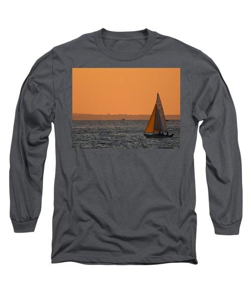 Sailboat Mount Sinai New York Long Sleeve T-Shirt by Bob Savage