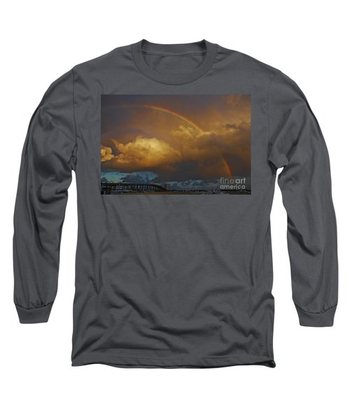 Long Sleeve T-Shirt featuring the photograph 2- Singer Island Stormbow by Rainbows
