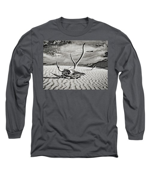 Skull And Antlers Long Sleeve T-Shirt