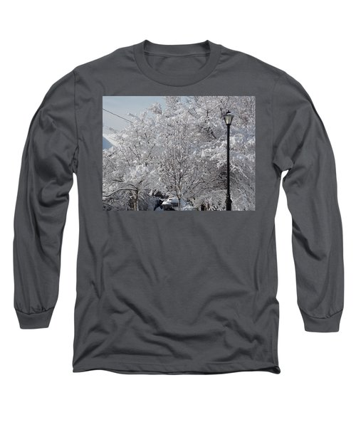 Snow Covered Trees Long Sleeve T-Shirt by Catherine Gagne