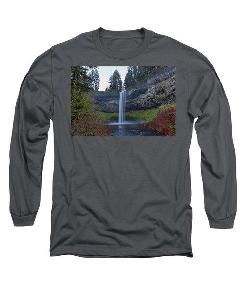 South Falls At Silver Falls State Park Long Sleeve T-Shirt