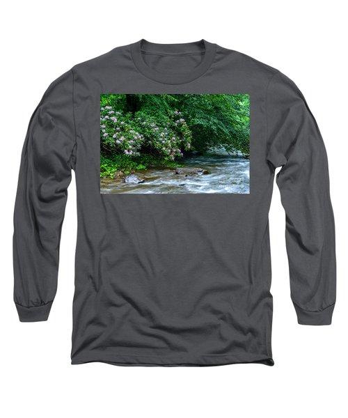 Summer Along Birch River Long Sleeve T-Shirt