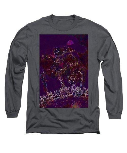 Long Sleeve T-Shirt featuring the digital art Sun Flower Hummel Insect Summer  by PixBreak Art