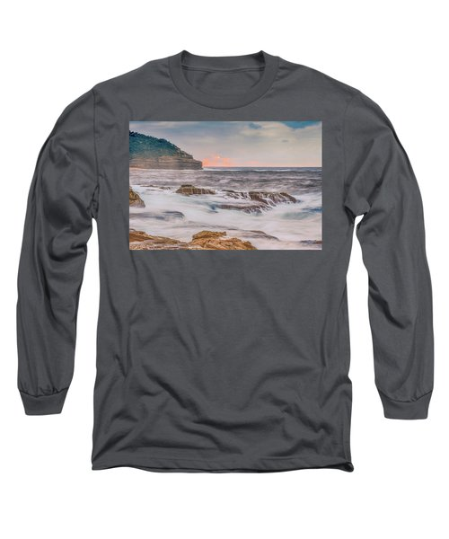 Sunrise Seascape And Headland Long Sleeve T-Shirt