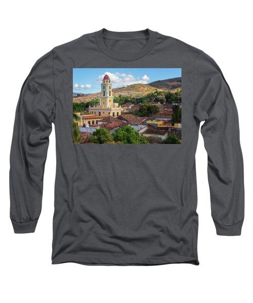 Long Sleeve T-Shirt featuring the photograph Trinidad Cuba Cityscape II by Joan Carroll