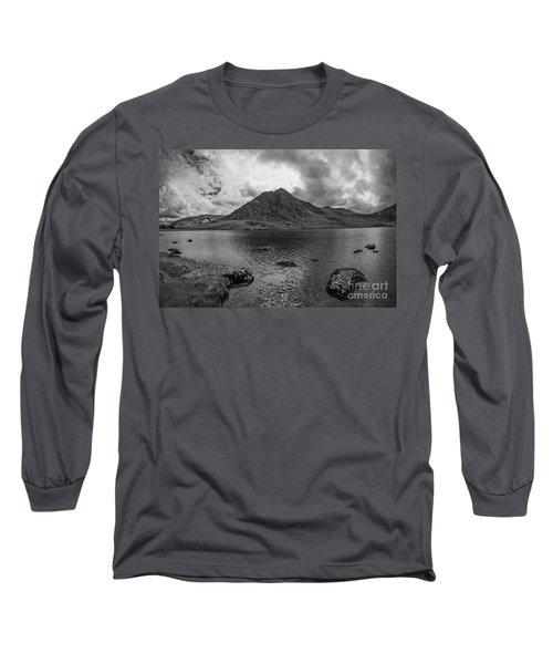 Tryfan Mountain Long Sleeve T-Shirt by Ian Mitchell