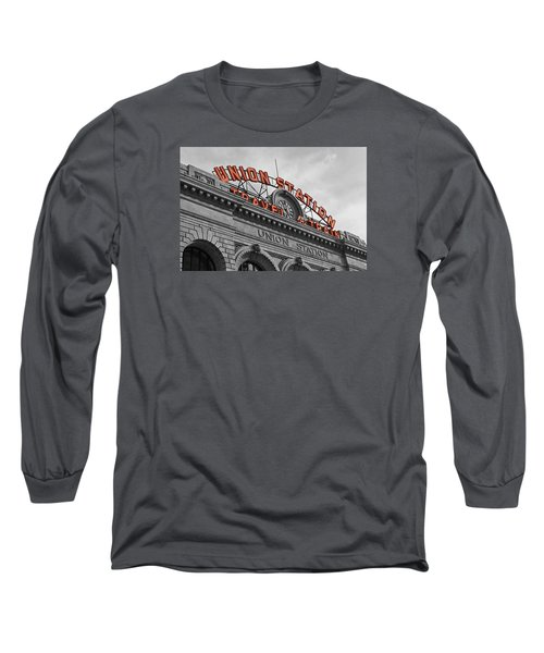 Union Station - Denver  Long Sleeve T-Shirt by Mountain Dreams