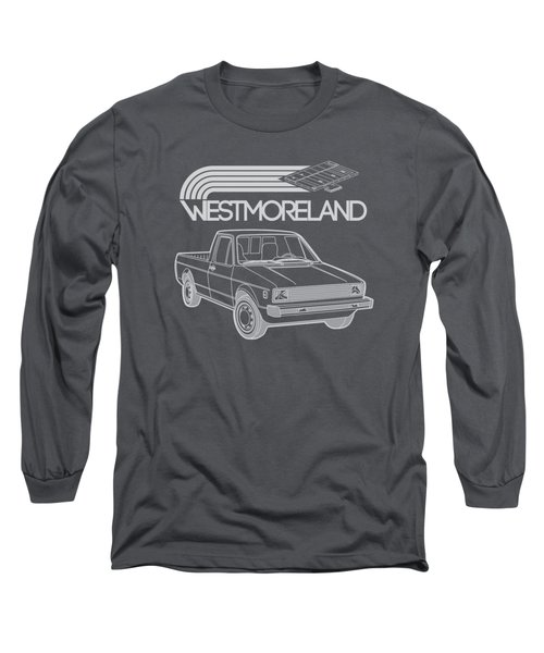 Vw Rabbit Pickup - Westmoreland Theme - Black Long Sleeve T-Shirt