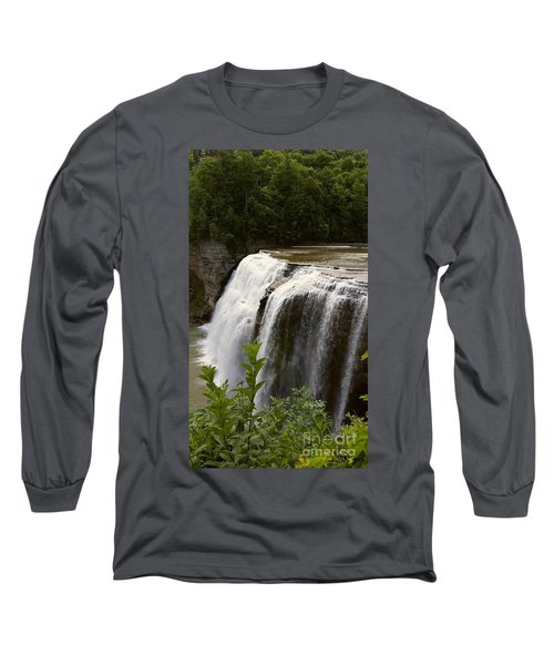 Long Sleeve T-Shirt featuring the photograph Waterfall by Raymond Earley