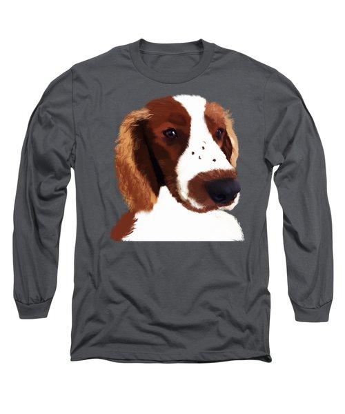 Welsh Springer Spaniel Art Long Sleeve T-Shirt