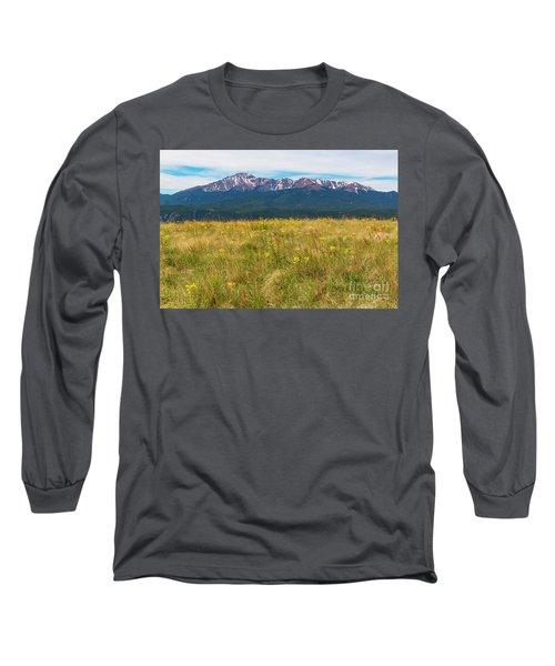 Wildflowers And Pikes Peak Long Sleeve T-Shirt
