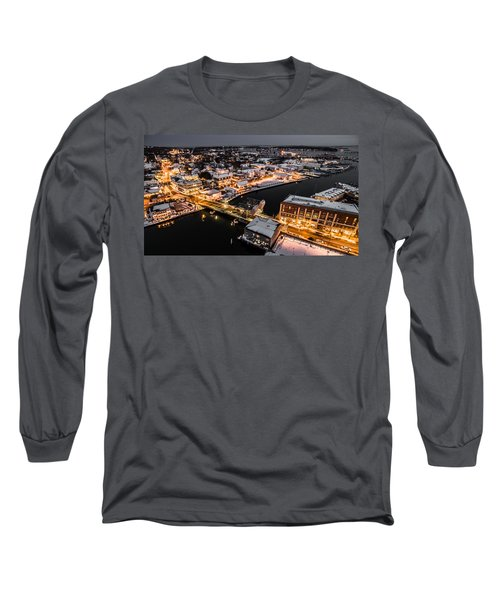 Winter Twilight In Mystic Connecticut Long Sleeve T-Shirt by Petr Hejl