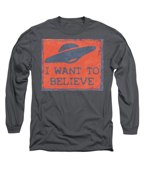 X Files I Want To Believe Long Sleeve T-Shirt by Kyle West