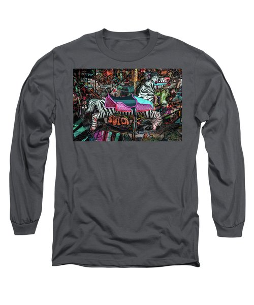 Long Sleeve T-Shirt featuring the photograph Zebra Carousel by Michael Arend