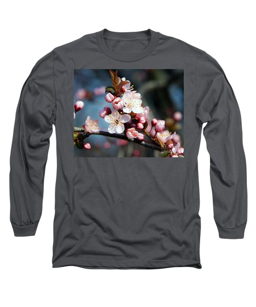 Tree Blossoms Long Sleeve T-Shirt by Elvira Ladocki