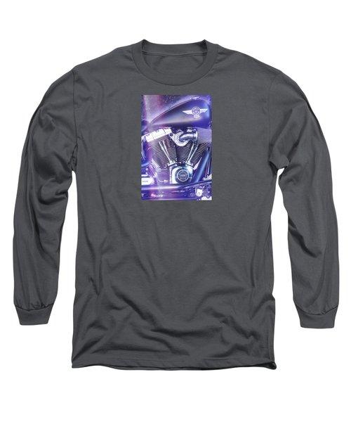 2012 Harley Davidson Fat Boy Long Sleeve T-Shirt by George Robinson