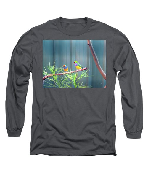 Aussie Rainbow Lovebirds Long Sleeve T-Shirt