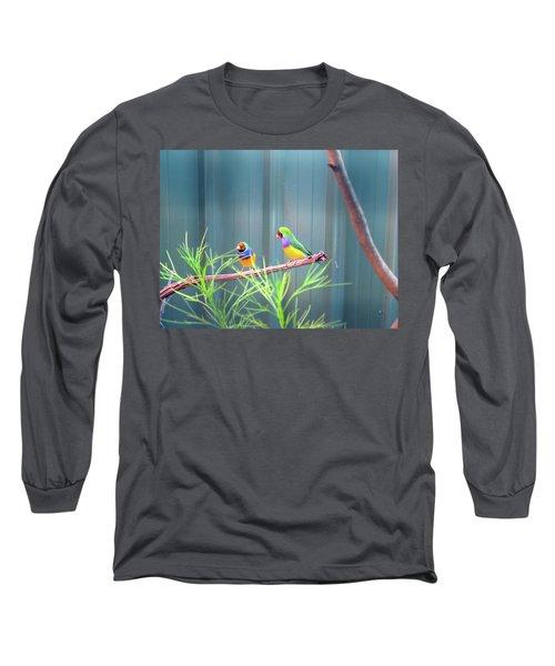 Aussie Rainbow Lovebirds Long Sleeve T-Shirt
