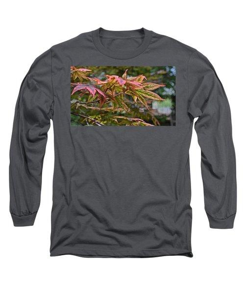 2015 Mid-september At The Garden Japanese Maple 1 Long Sleeve T-Shirt