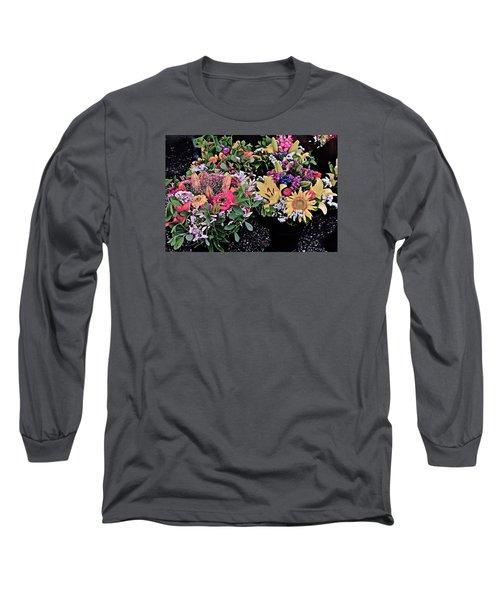 2015 Monona Farmers Market Flowers 1 Long Sleeve T-Shirt
