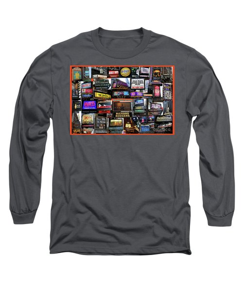 Long Sleeve T-Shirt featuring the photograph 2016 Broadway Fall Collage by Steven Spak