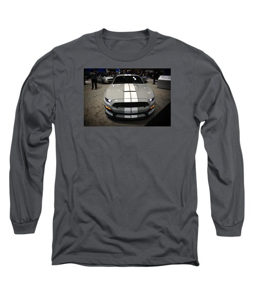 2016 Preproduction Ford Mustang Shelby Gt350 Long Sleeve T-Shirt by Mike Martin