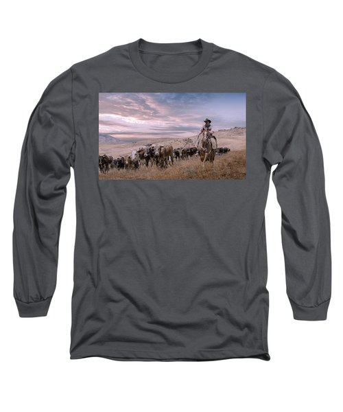 2016 Reno Cattle Drive Long Sleeve T-Shirt by Rick Mosher