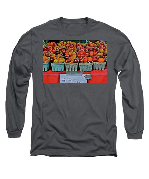 2017 Monona Farmers' Market August Heirloom Cherry Tomatoes Long Sleeve T-Shirt