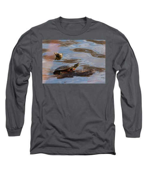 2017 Painted Turtle Long Sleeve T-Shirt by Edward Peterson