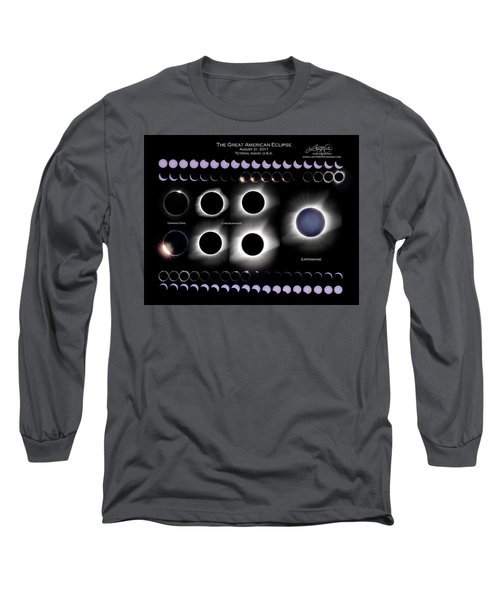 2017 Solar Eclipse Collage Long Sleeve T-Shirt