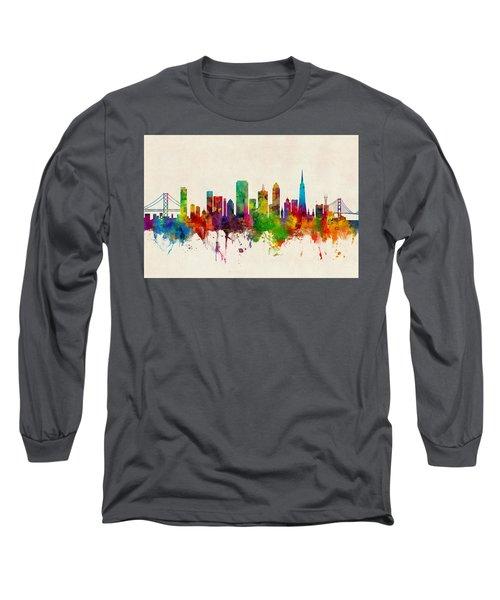 San Francisco City Skyline Long Sleeve T-Shirt