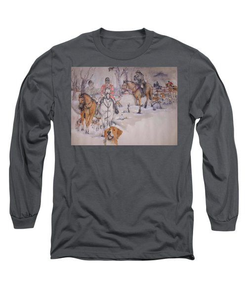 Long Sleeve T-Shirt featuring the painting Talley Ho Album  by Debbi Saccomanno Chan