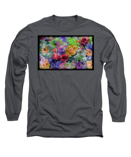 21a Abstract Floral Painting Digital Expressionism Long Sleeve T-Shirt