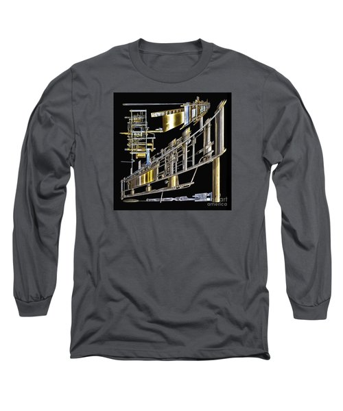 21st Century Erector Set ? Long Sleeve T-Shirt by Walt Foegelle
