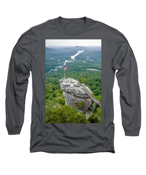 Lake Lure And Chimney Rock Landscapes Long Sleeve T-Shirt