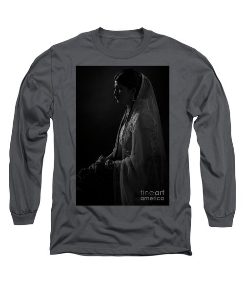 Portrait Of Indian Lady Long Sleeve T-Shirt