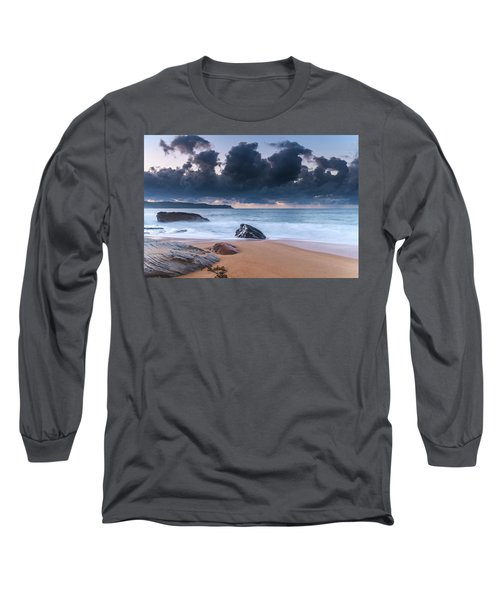 Sunrise Seascape With Clouds Long Sleeve T-Shirt