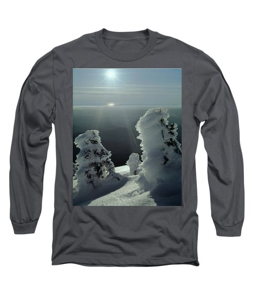 2m4415 A Ice Covered Trees Over Puget Sound Long Sleeve T-Shirt