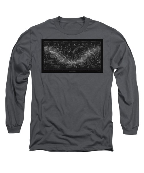 2017 Pi Day Star Chart Carree Projection Long Sleeve T-Shirt