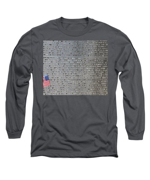 9-11 Memorial Rocky Point New York Long Sleeve T-Shirt by Bob Savage