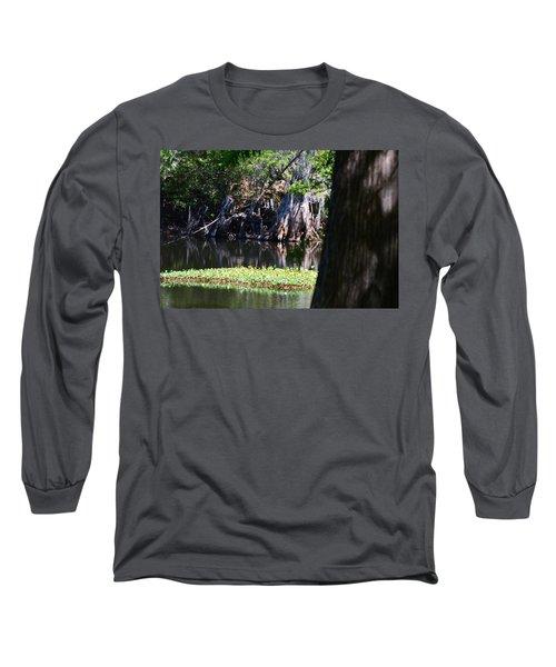 Across The River Long Sleeve T-Shirt by Warren Thompson