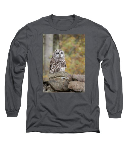 Long Sleeve T-Shirt featuring the photograph Barred Owl by Tyson and Kathy Smith