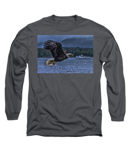 Long Sleeve T-Shirt featuring the digital art In Flight. by Timothy Latta
