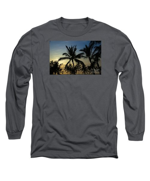 Long Sleeve T-Shirt featuring the photograph Kona Sunset by Kelly Wade