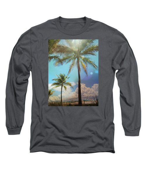 Miami Palm Trees,  Long Sleeve T-Shirt by France Laliberte