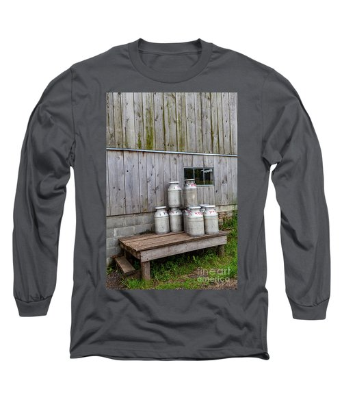 Milk Cans Long Sleeve T-Shirt